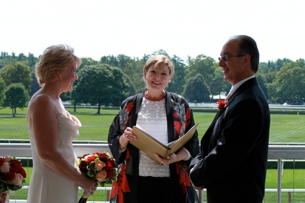 Saratoga Racetrack Wedding, Saratoga Wedding Ceremony Officiant, Reverend Joy Burke