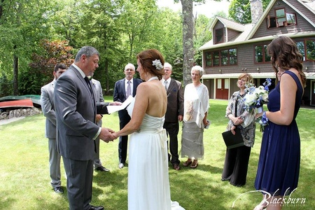 Elope Brant Lake, Saratoga Wedding Officiant and Celebrant Rev. Joy Burke